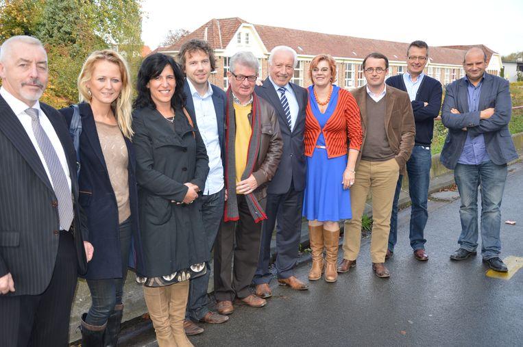 De oude bestuursploeg van Open Vld, CD&V, sp.a en Groen (de laatste drie partijen vormen nu 'Samen').