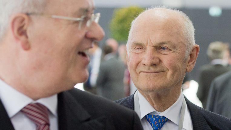 Martin Winterkorn, links, en Ferdinand Piëch in betere tijden. Beeld DPA