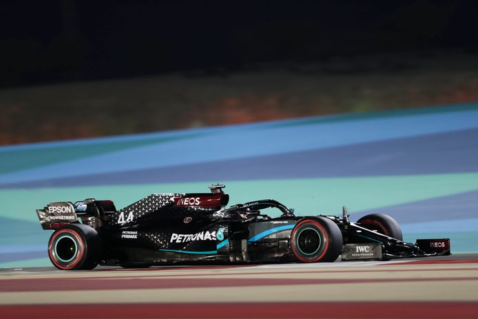 De bolide van Lewis Hamilton.