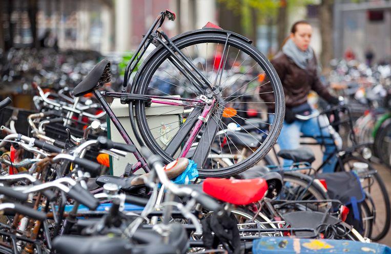 De overvolle fietsenstalling bij het Centraal Station. Beeld ANP XTRA