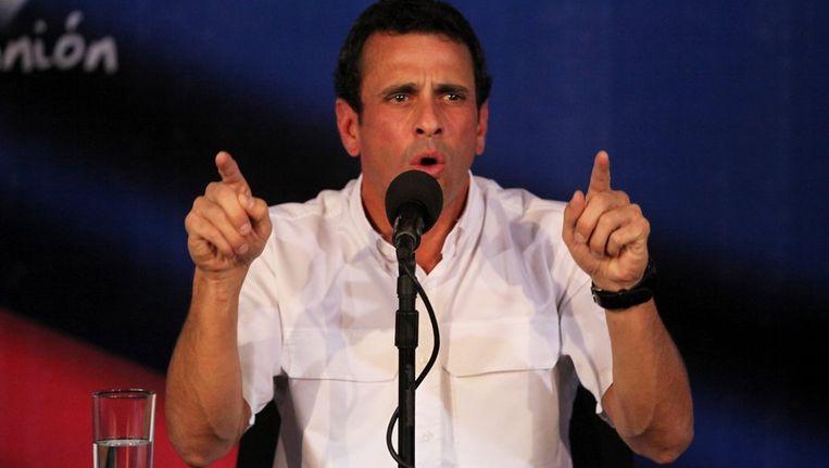 De Venezolaanse oppositieleider Henrique Capriles Beeld ap