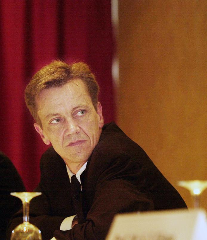 Martijn van der Vorm rond de eeuwwisseling tijdens een jaarvergadering van de HAL in Rotterdam. Het is een van de weinig foto's die van hem bekend zijn.