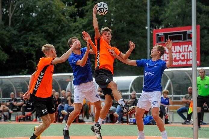 De korfballers van Unitas eerder deze competitie in actie.