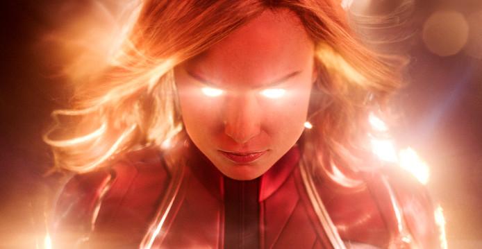 Captain Marvel, vertolkt door Brie Larson.