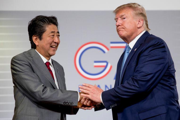 Trump en de Japanse premier Shinzo Abe deden de aankondiging na bilateraal overleg tijdens de G7-top.