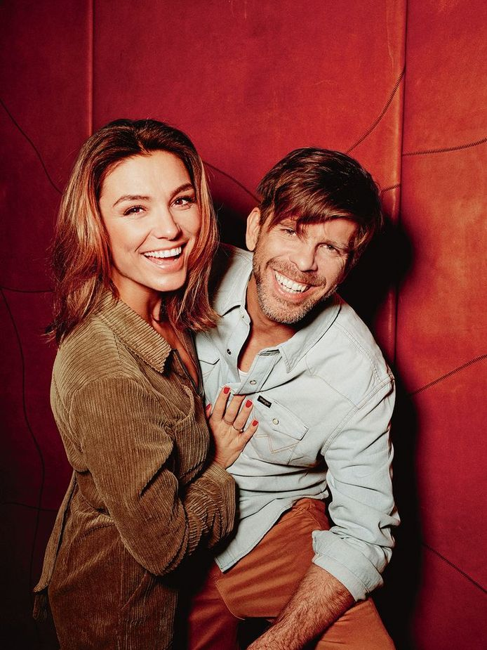 Kurt Loyens met zijn verloofde Evi Hanssen.