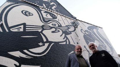 Een brok muziekgeschiedenis in graffiti