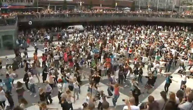 De Michael Jackson Tribute in Stockholm, 8 juli 2009 Beeld