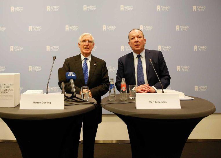 De Onderzoekscommissie Ontnemingsschikking presenteert haar onderzoeksrapport in Nieuwspoort Beeld anp