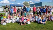 Kleinste deelnemertjes Lentejogging lopen 'Karamellenloop'