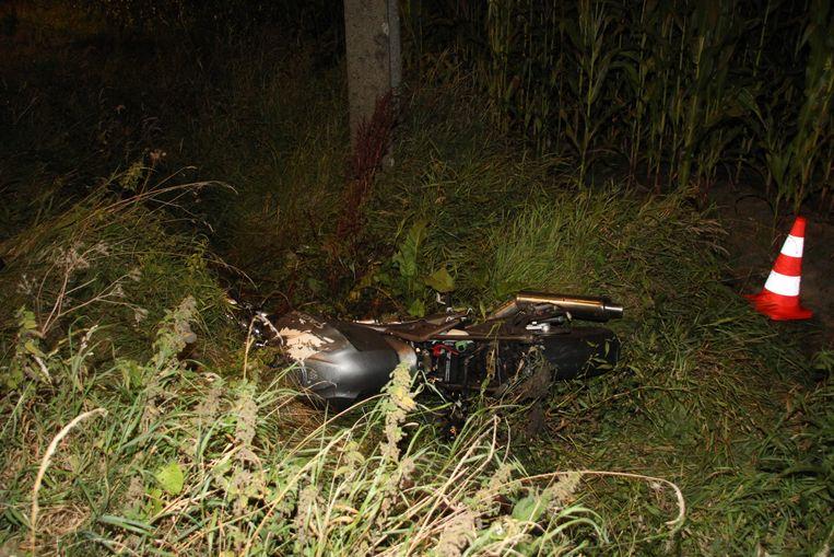 De motorrijder werd aan 110 kilometer per uur aangereden.