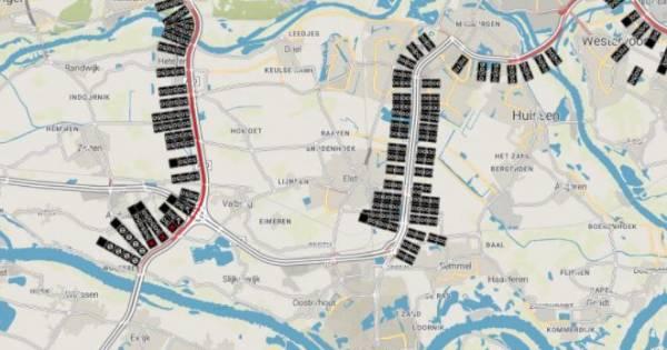 Ongeluk met meerdere auto's op A50 bij Ewijk: vertraging neemt snel af.