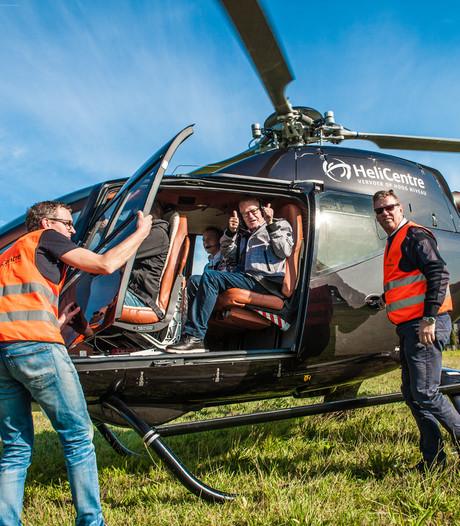 Link met Daan Theeuwes Centrum maakt helikoptervlucht extra bijzonder voor Gouds stel