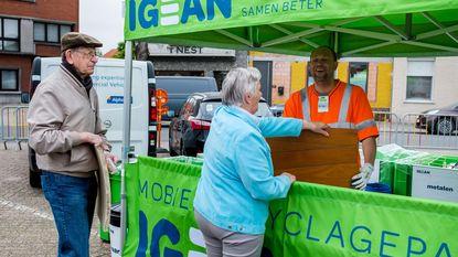 Mobiel recyclagepark valt meteen in de smaak