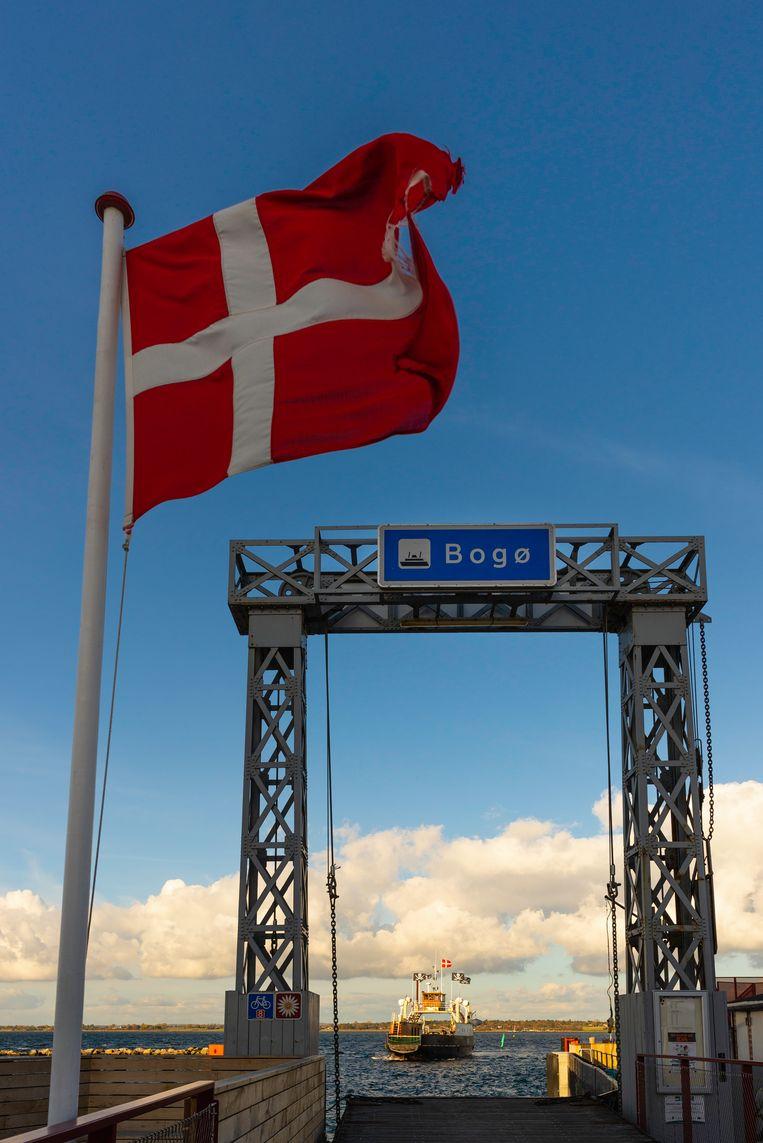 Oostzeeroute Denemarken, boot van Falster naar Bogø. Beeld Jessica de Korte