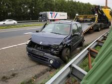 Automobilist gewond na aanrijding op A58 bij Roosendaal