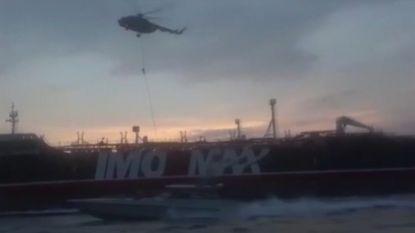 Iraanse staatstelevisie geeft indrukwekkende beelden vrij van inbeslagname Britse tanker