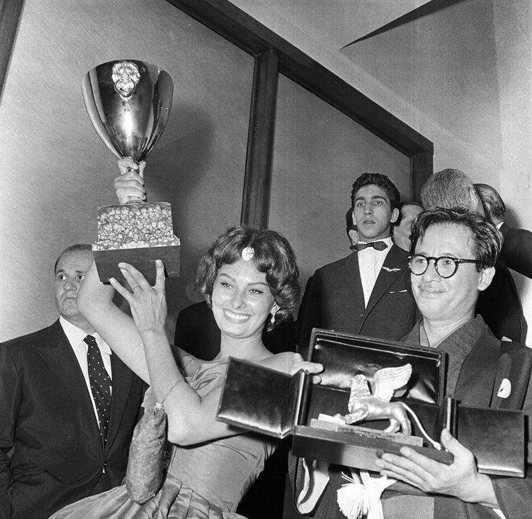 Sophia Loren in 1957.  Beeld Mondadori via Getty Images