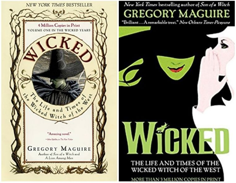 Zowel het boek als de muscial 'Wicked' zijn gebaseerd op 'The Wizard Of Oz'.