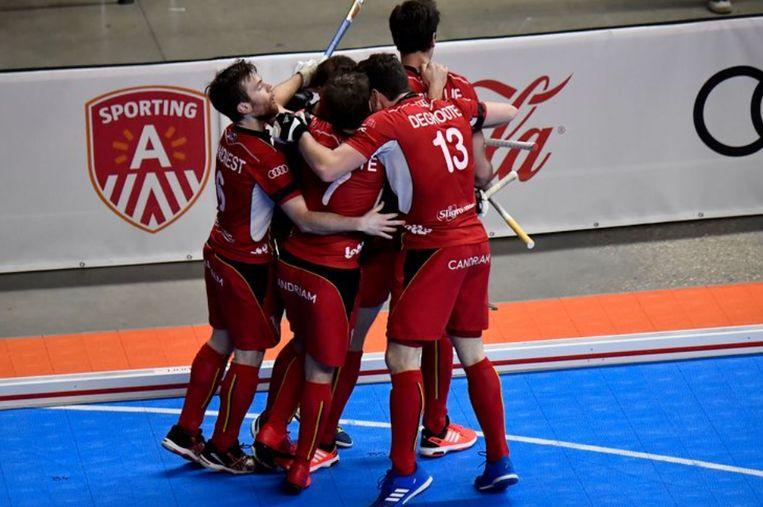 Indoor Red Lions op het EK in Antwerpen, van twee jaar geleden.