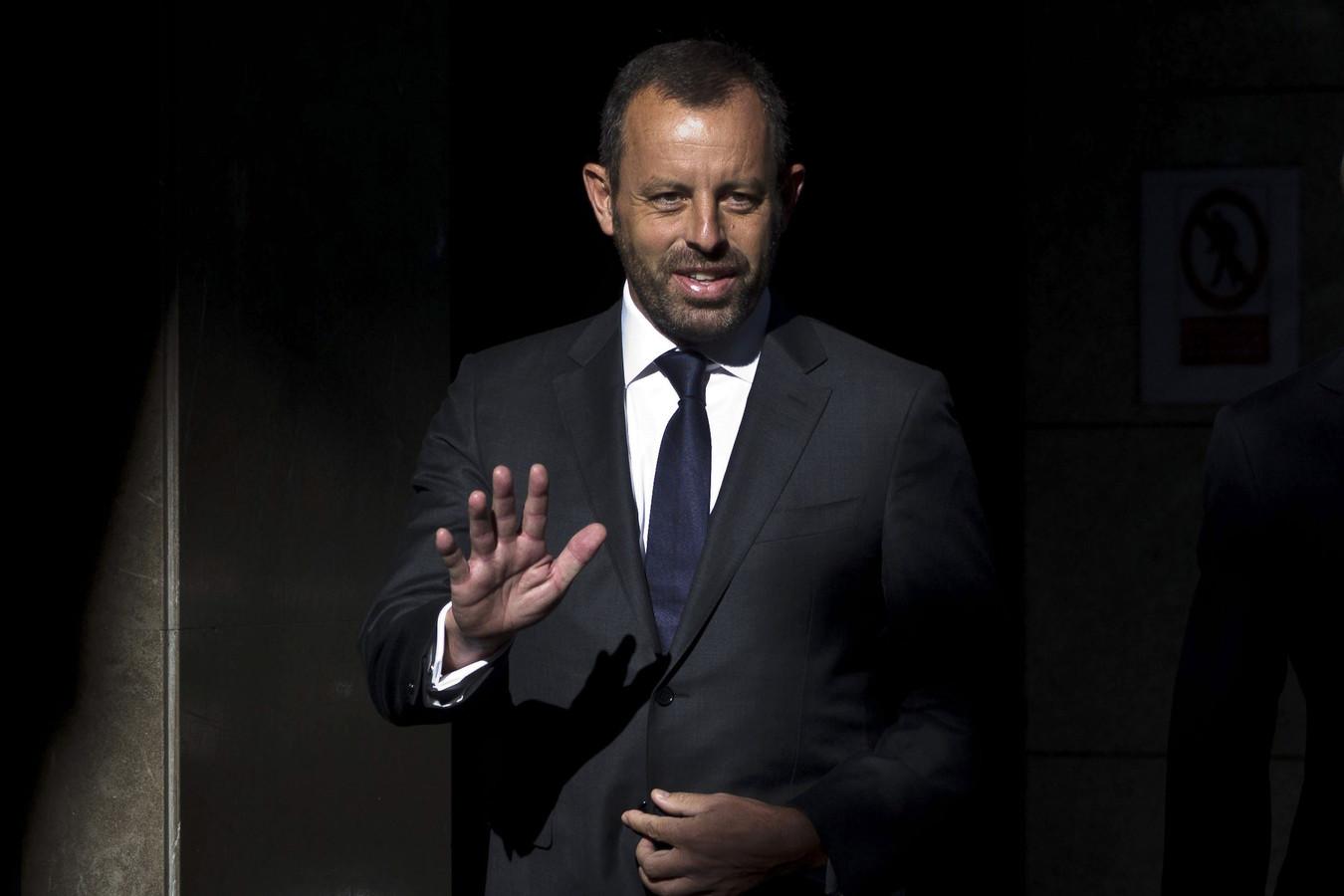 Rosell arriveert bij de rechtbank in Madrid.