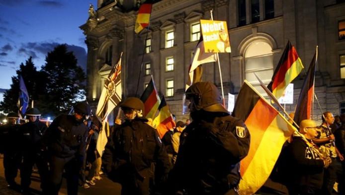 Een Pegida-demonstratie in Duitsland.