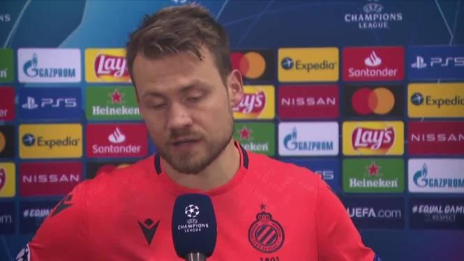 """Mignolet na pijnlijke avond voor Club Brugge: """"We hebben het onszelf moeilijk gemaakt"""""""