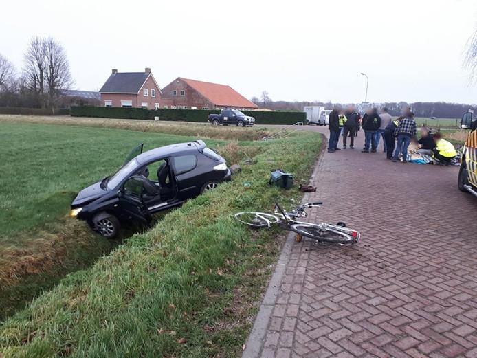 17-jarige bestuurder veroorzaakt ongeluk in Wagenberg.
