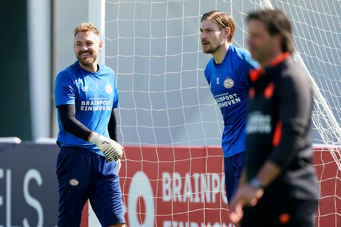 Jeroen Zoet en Lars Unnerstall tijdens de training in Qatar.