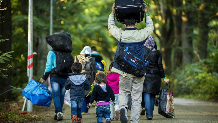 Asielzoekers in Nederland op weg naar de opvang Beeld Archieffoto Valerie Kuypers