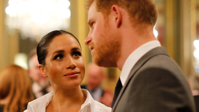 Meghan Markle avec son époux, le prince Harry.