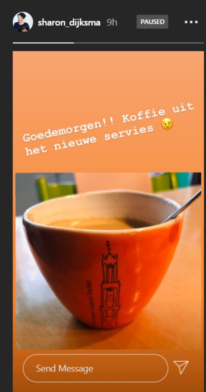 Sharon Dijksma heeft Utrechts servies.