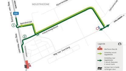 Werken aan rotonde Weg naar Zwartberg gaan van start
