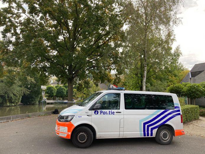 Het lichaam werd teruggevonden ter hoogte van de Krommehamlaan in Drongen