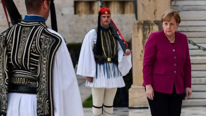 Merkel erkent Duitse verantwoordelijkheid voor nazi-misdaden in Griekenland, maar zwijgt over omstreden herstelbetalingen