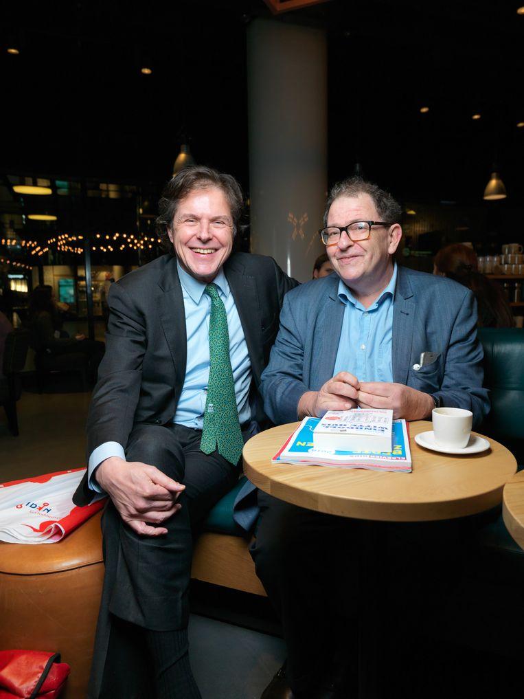Arendo Joustra (l) en Max van Weezel. Beeld Ivo van der Bent