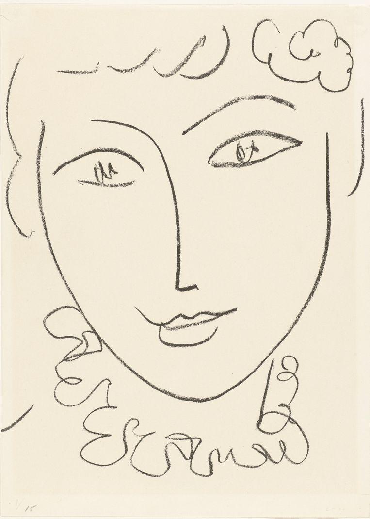 'La Pompadour' van Henri Matisse. Beeld