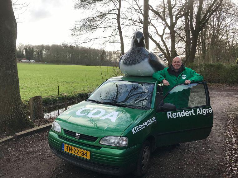 De Seat van Rendert Algra (CDA), nummer 7 op de lijst voor de provinciale verkiezingen in Friesland. Beeld RV