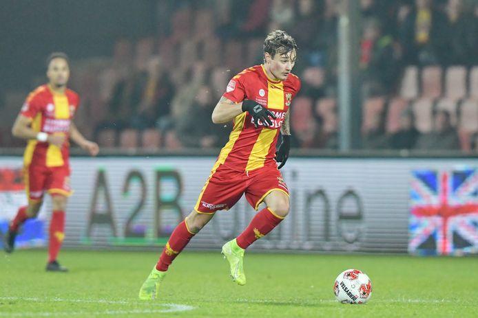 Adrian Edqvist zorgde maandagmiddag voor de gelijkmaker van Jong GA Eagles.