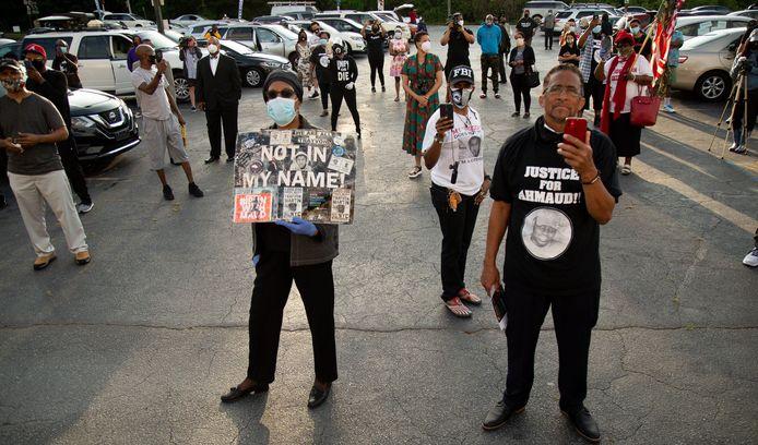 Manifestation pour demander justice pour Ahmaud Arbery