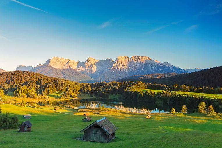 Zonsondergang in Beierse Alpen