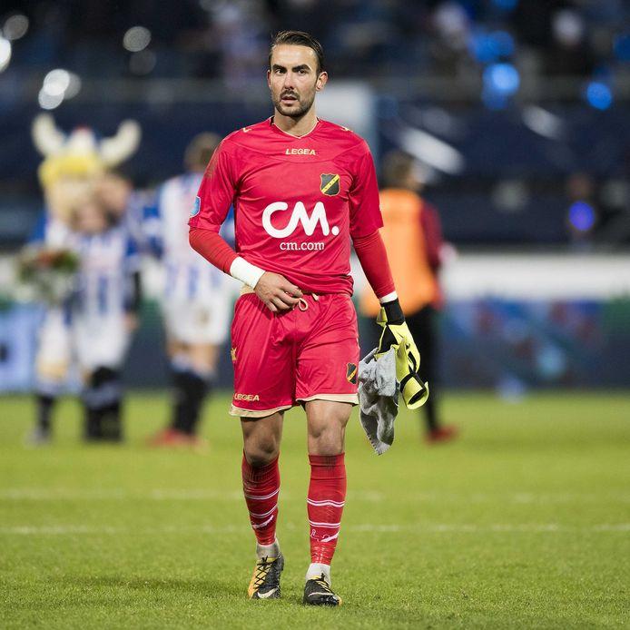 Archiefbeeld van Mark Birighitti, die een weifelende indruk maakte tegen de reserves van FC Utrecht.