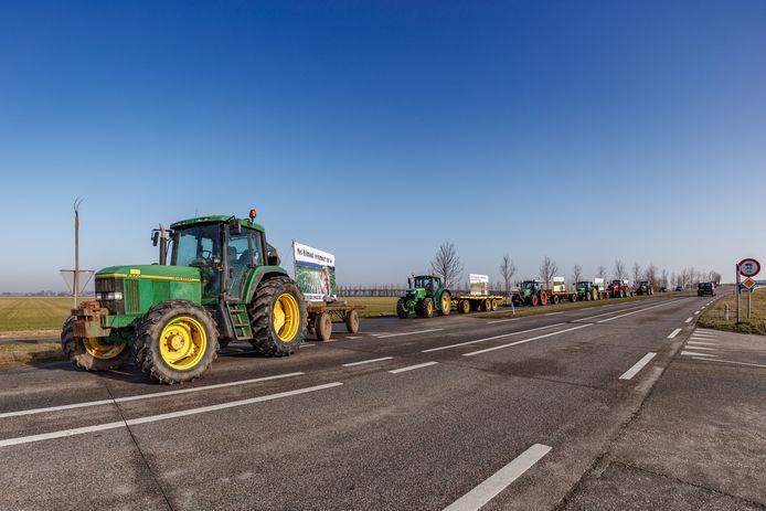 Boeren zullen morgen in colonne naar Den Haag rijden om te demonstreren voor een beter landbouwbeleid. Foto ter illustratie