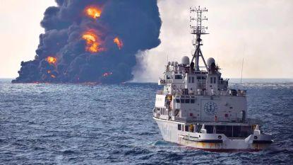 Brandende olietanker gezonken voor Chinese kust: geen overlevenden