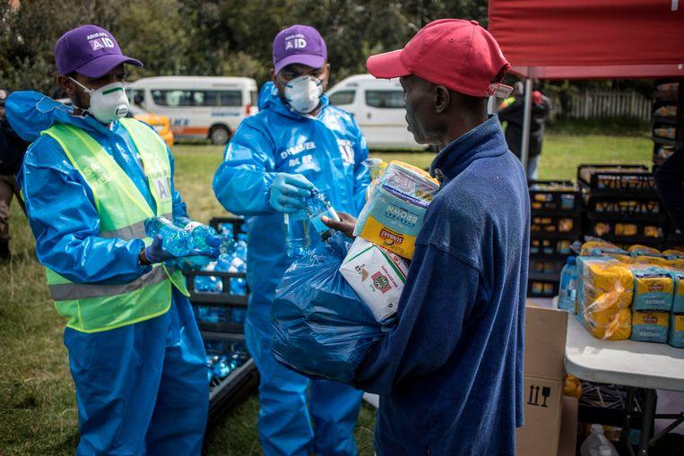 De lockdown in Zuid-Afrika heeft voor een daling van de criminaliteitscijfers gezorgd. Beeld AFP
