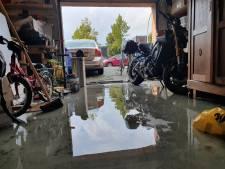 Stadshagen loopt onder water door felle hoosbuien boven Zwolle