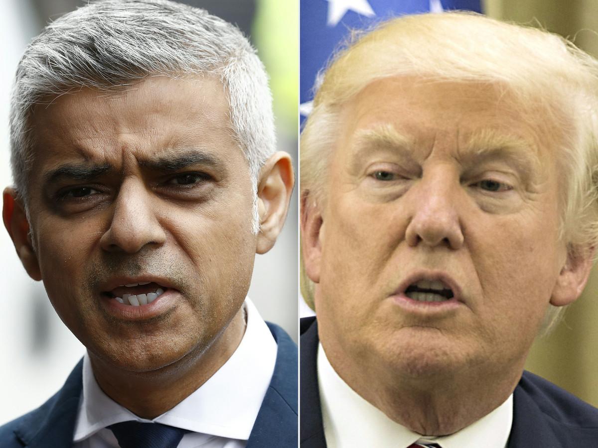 Sadiq Khan en Donald Trump hadden het weer druk met hun fitty.