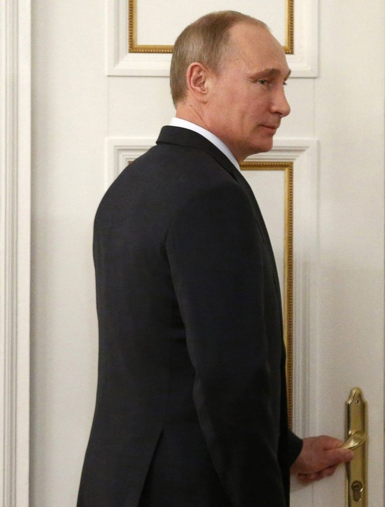 Vladimir Poetin is verheugd met de olielevering. Beeld reuters