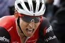 2019-04-24 16:22:52 HOEI - Bauke Mollema komt over de finish op de Muur van Huy tijdens de wielerklassieker de Waalse Pijl. ANP BAS CZERWINSKI