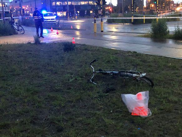 De fiets van één van de slachtoffers.